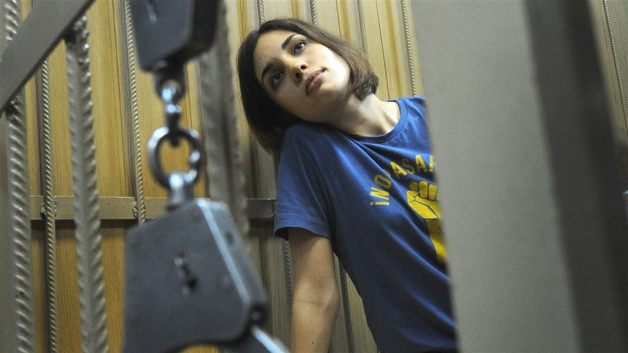 Nadezhda Tolokonnikova, l'une des trois membres des Pussy Riot