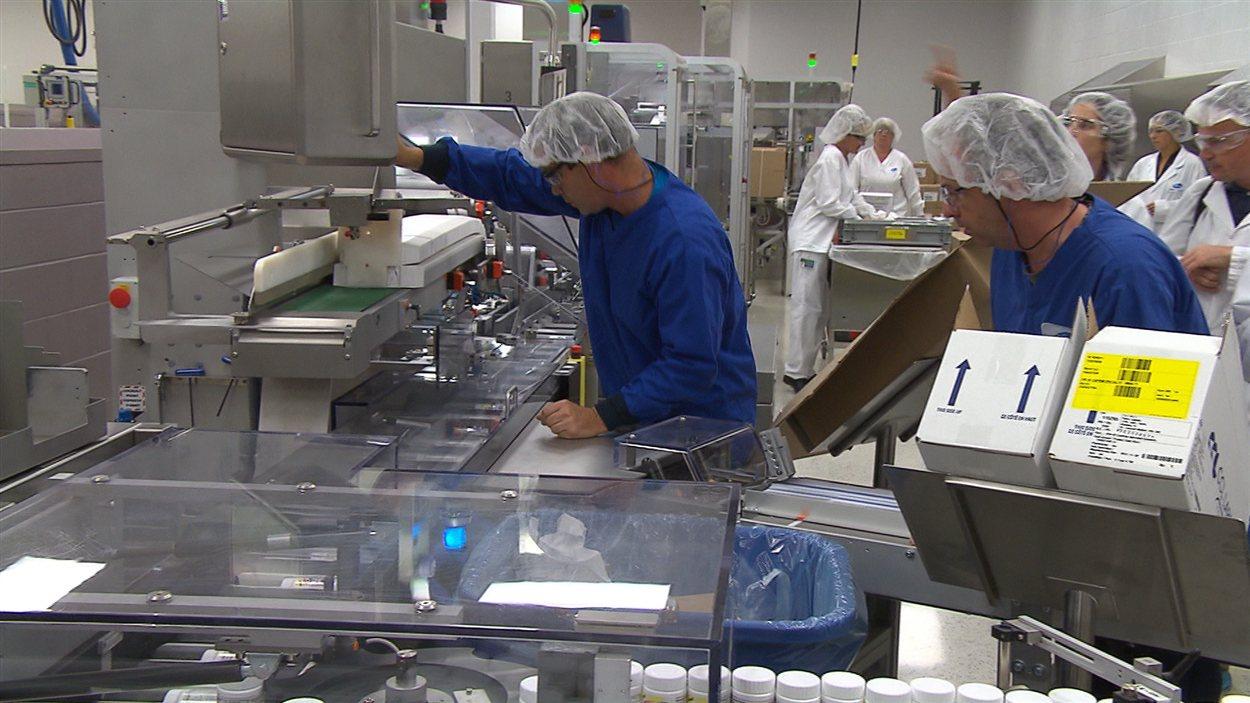 L'usine de Pfizer à Montréal.