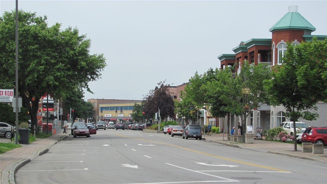 Le centre-ville de Rimouski
