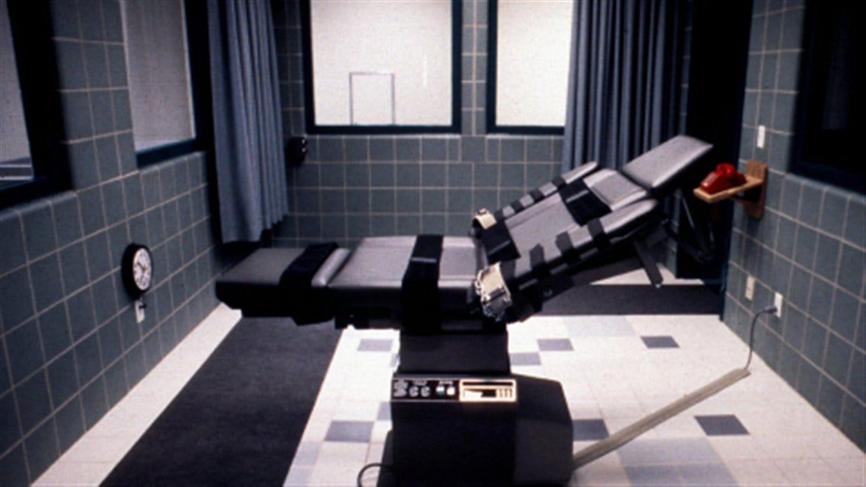 Une chambre d'exécution par injection létale du pénitencier de Terre Haute, dans l'Indiana (archives)