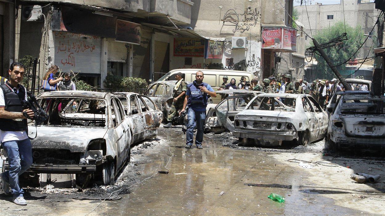 Le gouvernement a offert vendredi une «visite guidée» du quartier de Midane aux journalistes, quartier repris par les forces du régime de Bachar Al-Assad aux rebelles.