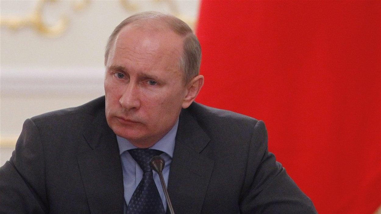 Le président russe Vladimir Poutine lors d'une réunion à Moscou, le 20 juillet