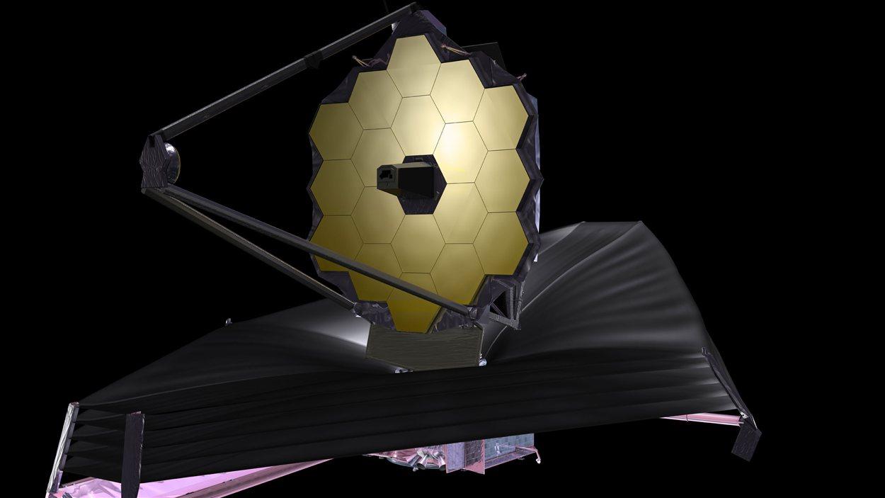 Représentation du télescope James Webb à l'oeuvre