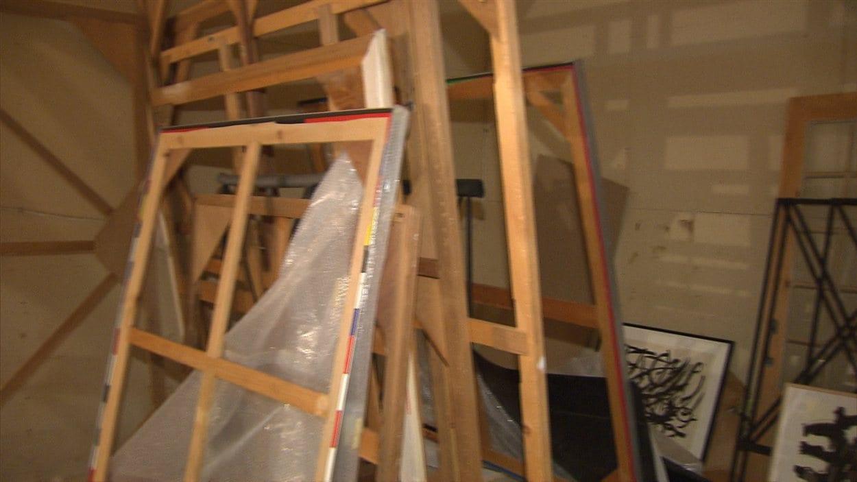 L'atelier où étaient entreposées les toiles de Guido Molinari qui ont été volées.