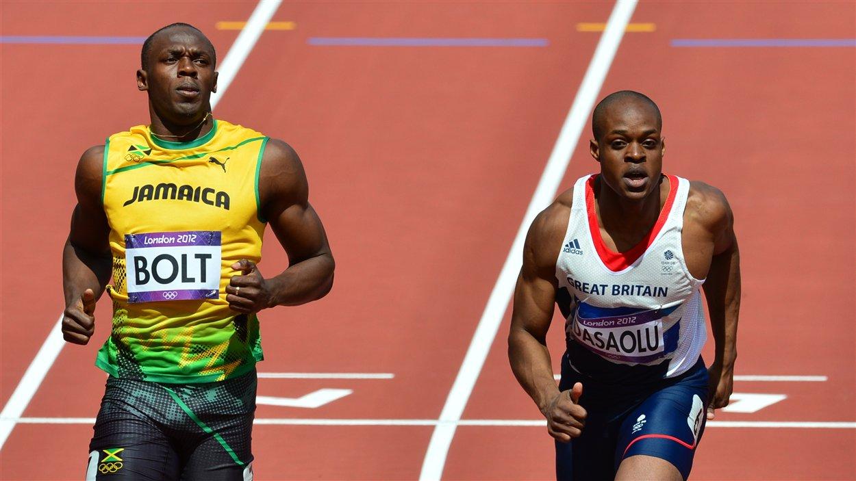 Usain Bolt et James Dasaolu