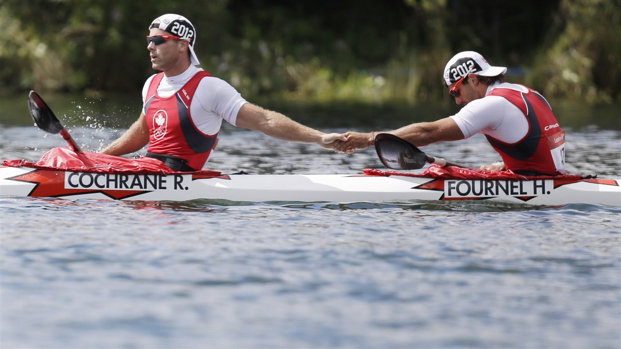 Ryan Cochrane et Hugues Fournel