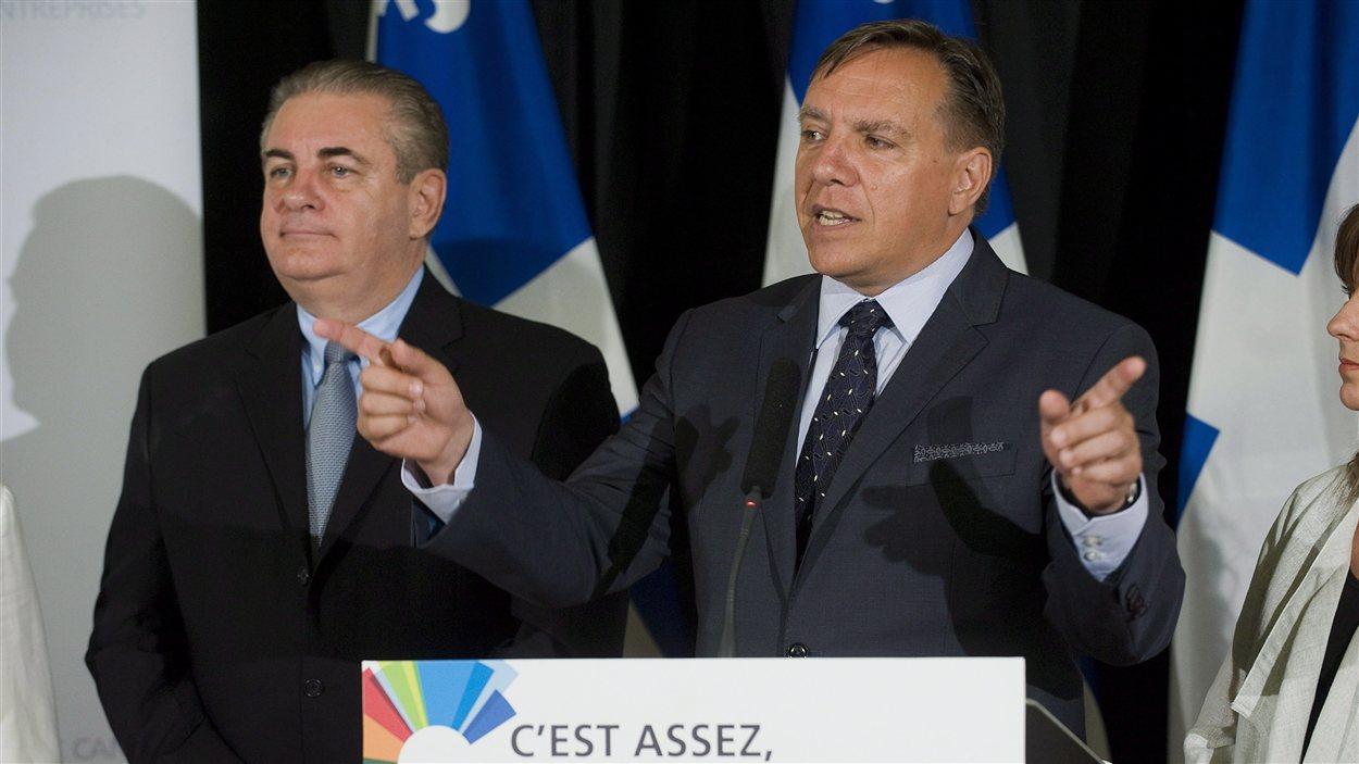 Jacques Duchesneau et François Legault
