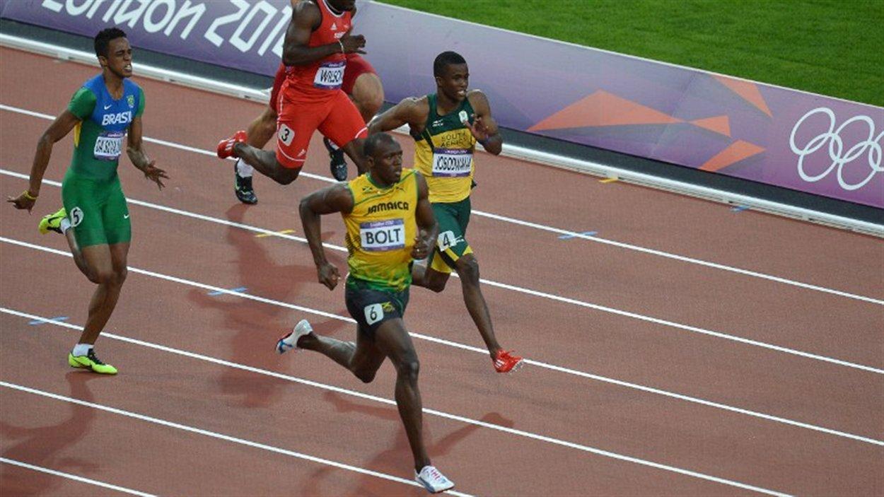 Usain Bolt en demi-finales du 200 m