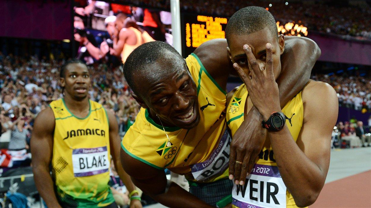 Yohan Blake, Usain Bolt et Warren Weir