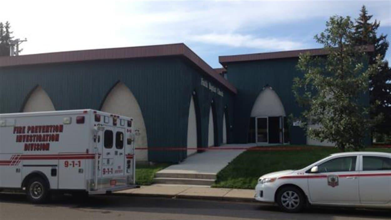 Un incendie s'est déclaré dans l'église Faith Baptist de Saskatoon