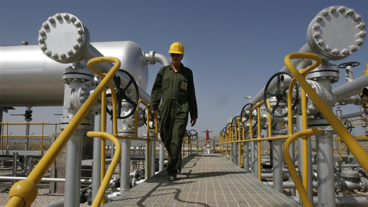 Installation pétrolière au sud ouest de Téhéran