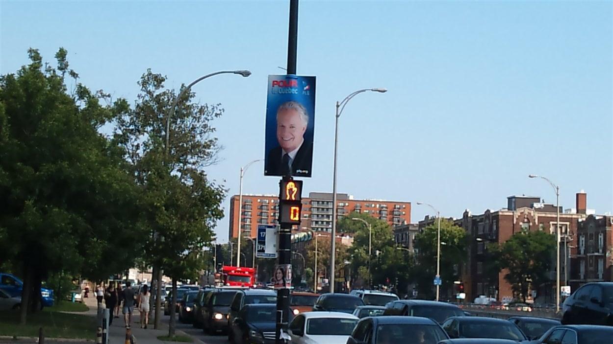 Une affiche libérale dans D'Arcy Mc Gee.