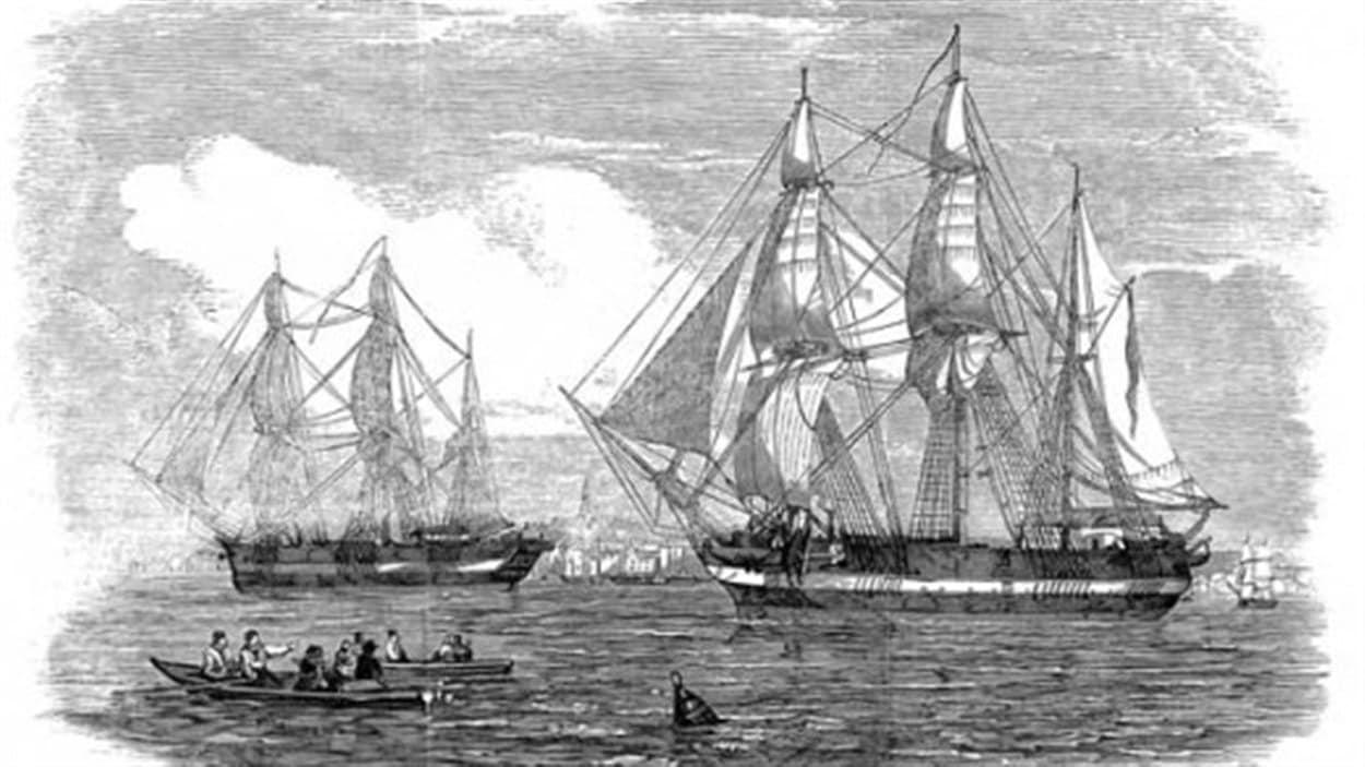 Les bateaux de l'expédition Franklin