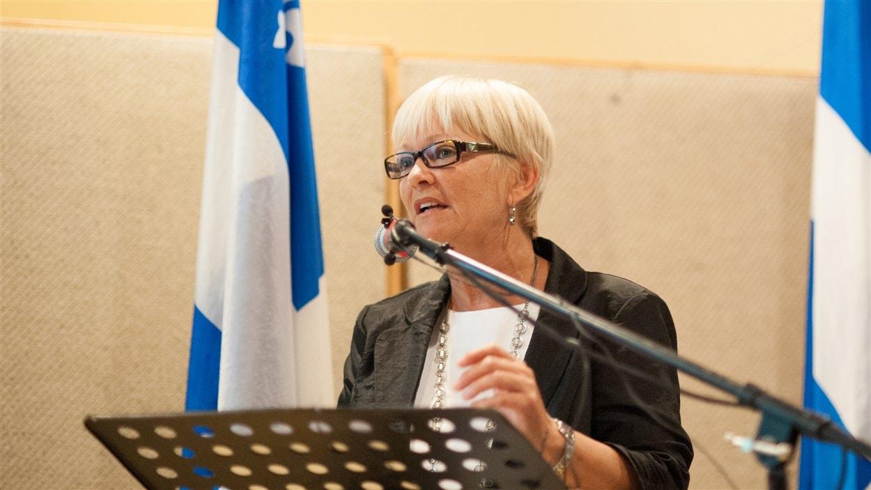 La candidate péquiste, Lorraine Richard