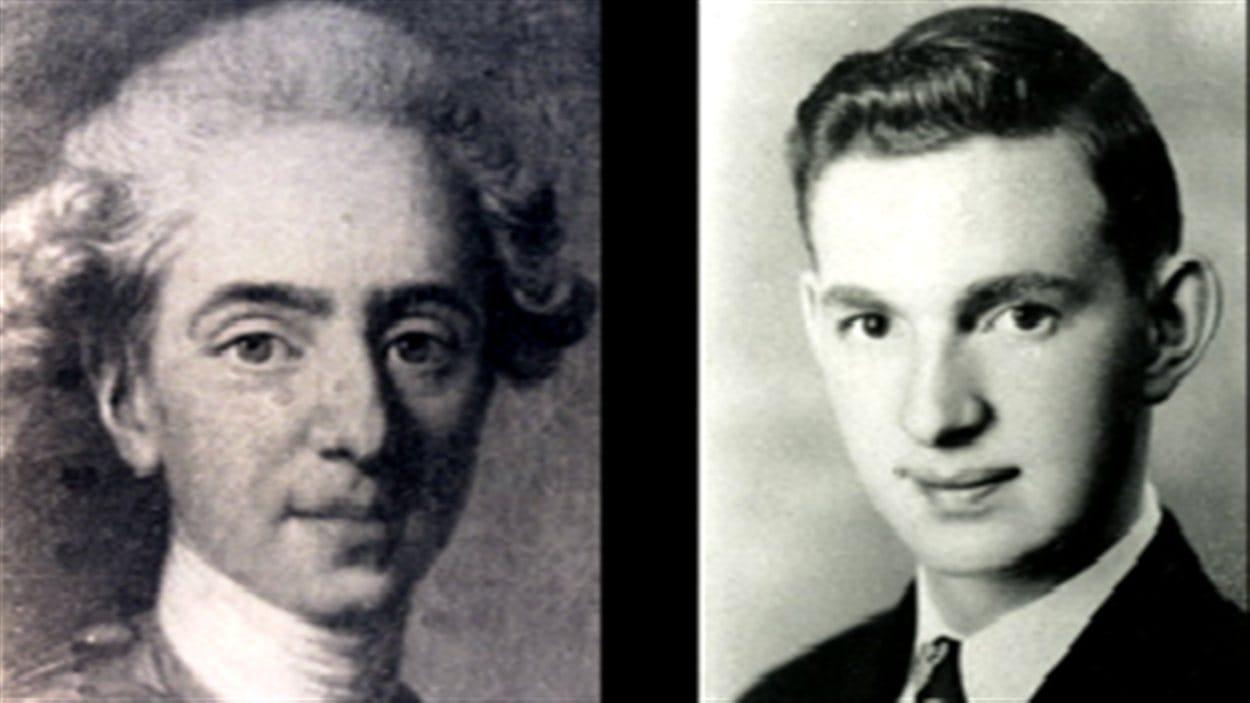 À gauche, Louis XVII et à droite, Carl Nadeau lorsqu'il était jeune.
