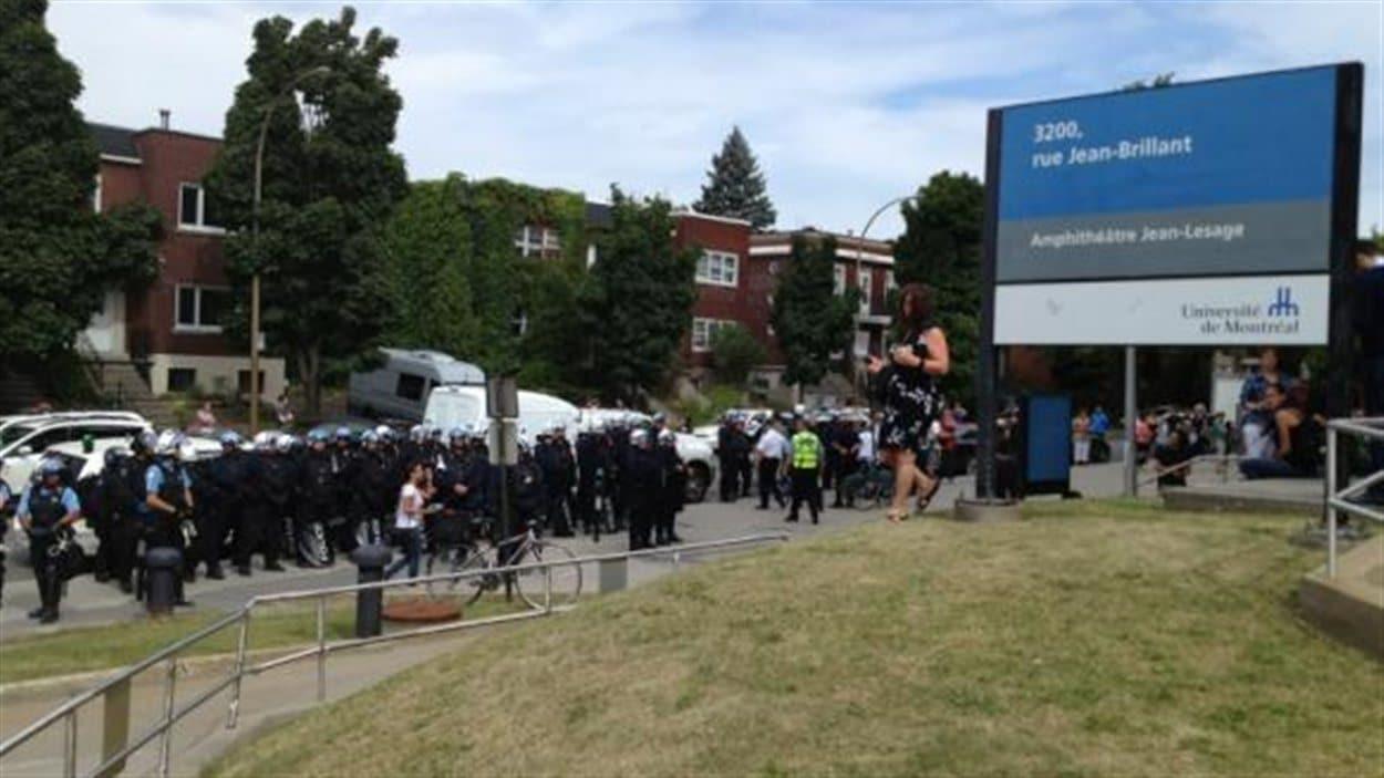 Renforts policiers à l'Université de Montréal