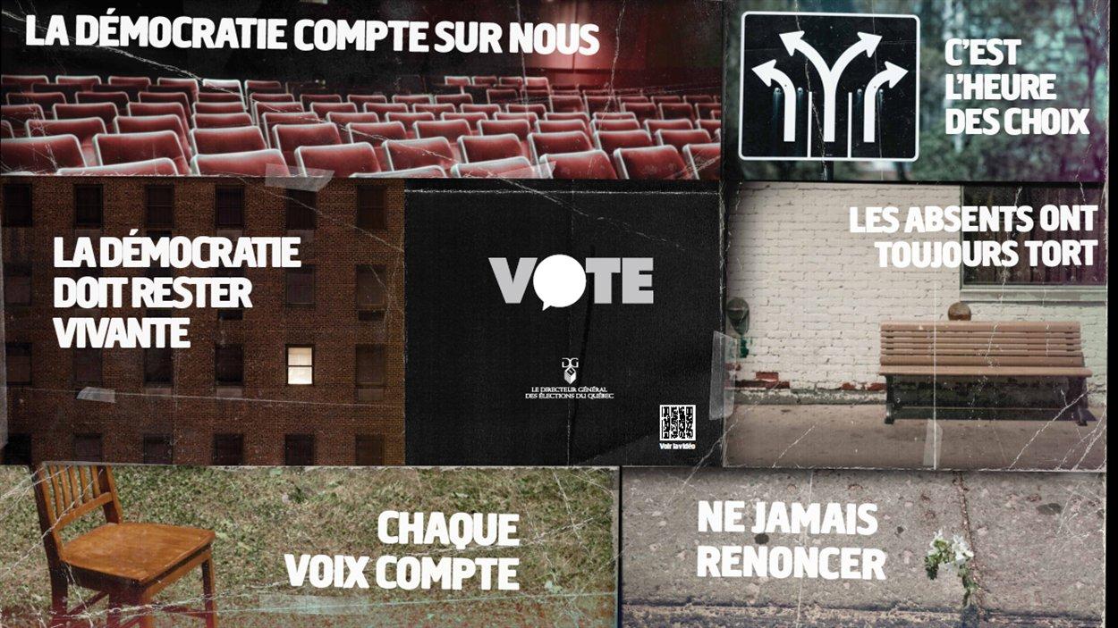 Affiches publicitaires du Directeur général des élections du Québec