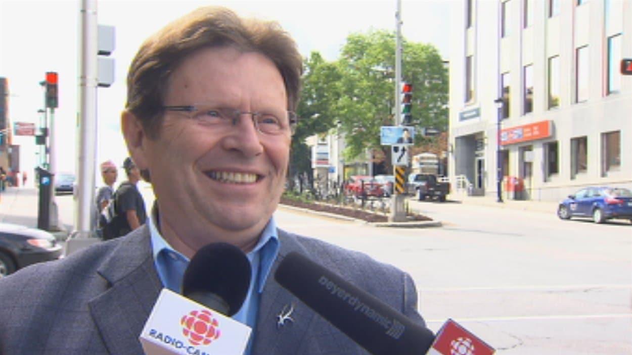 Le candidat du Parti québécois dans Sherbrooke, Serge Cardin