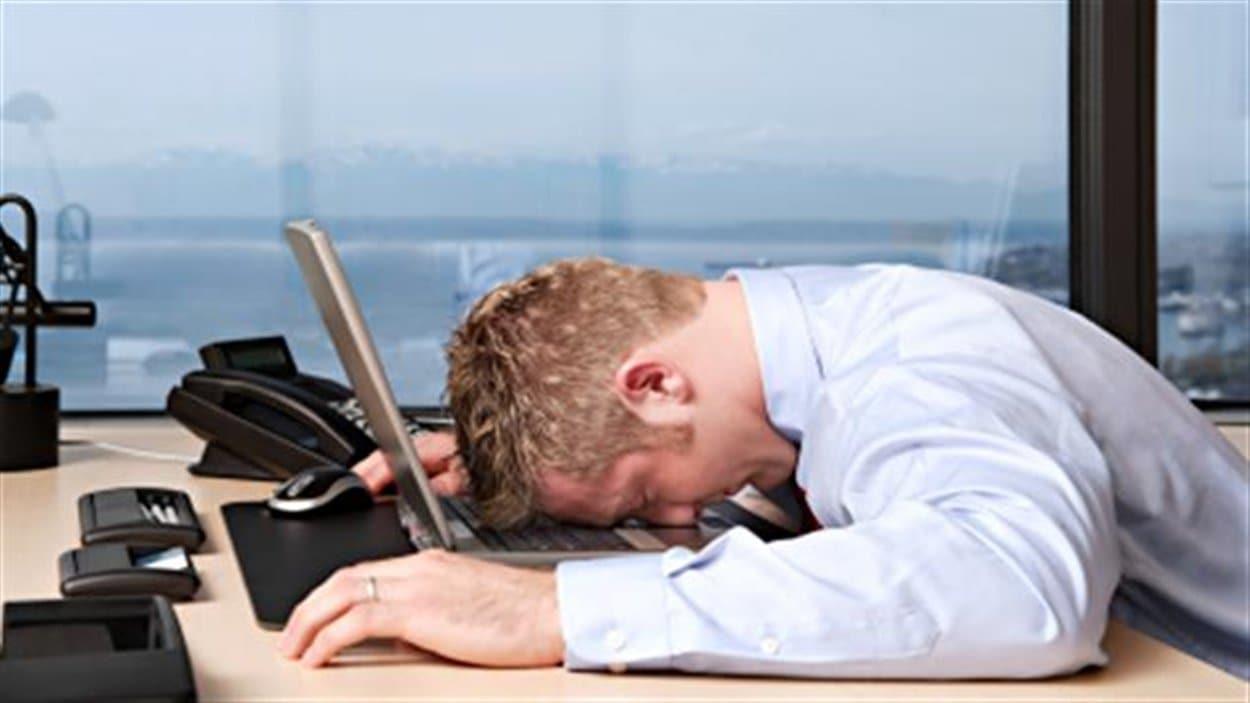 Travailleur épuisé