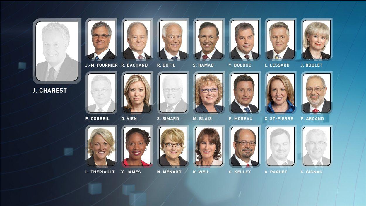 Ministres libéraux élus et défaits
