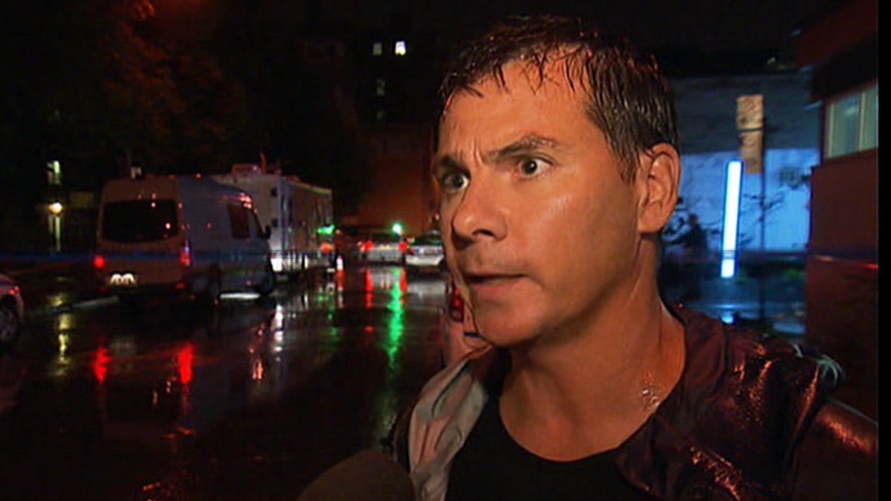 Le caméraman de Radio-Canada, Martin Bouffard, relate ce qu'il a vu et entendu avec émotion.