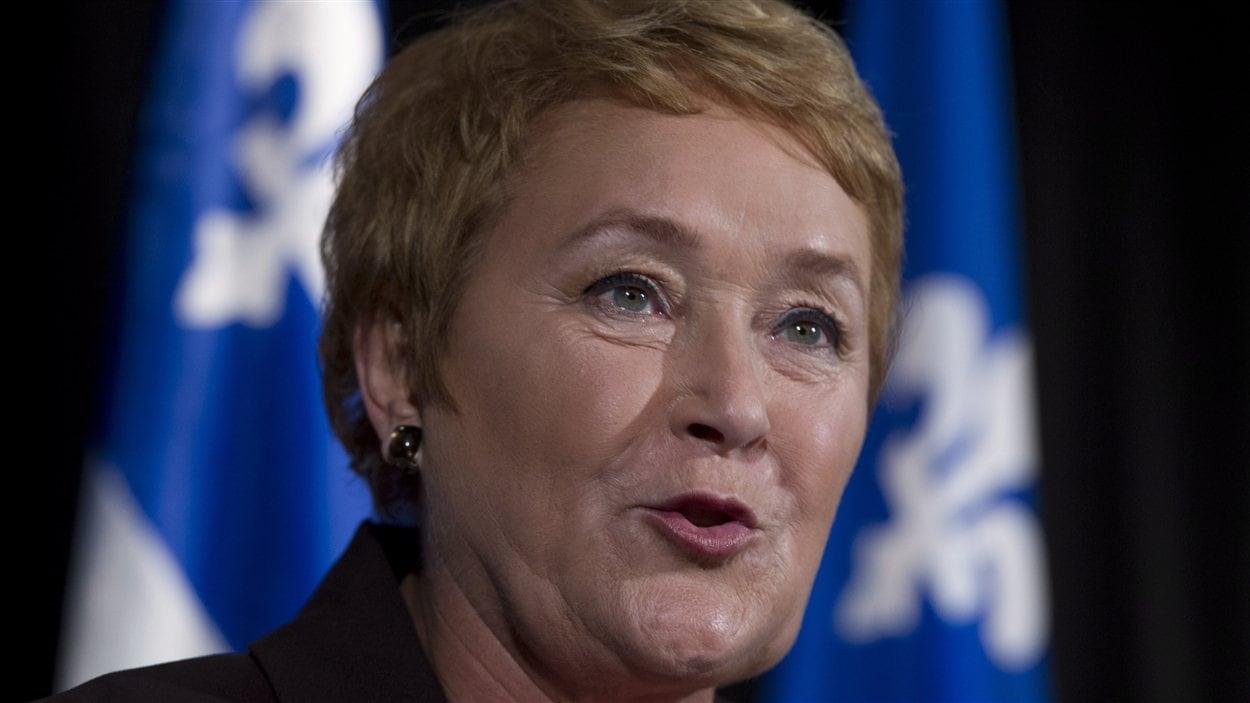 Pauline Marois en point de presse au lendemain de son élection