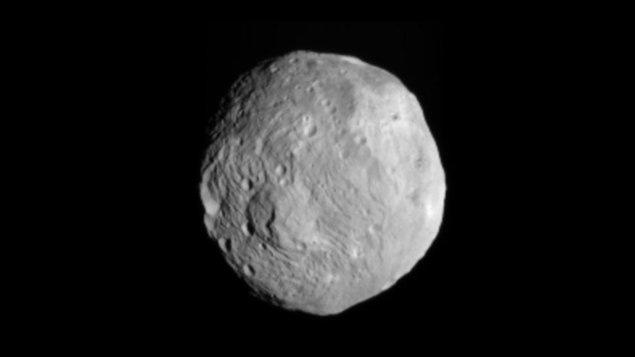 L'astéroïde Vesta, prise en photo par la sonde Dawn.