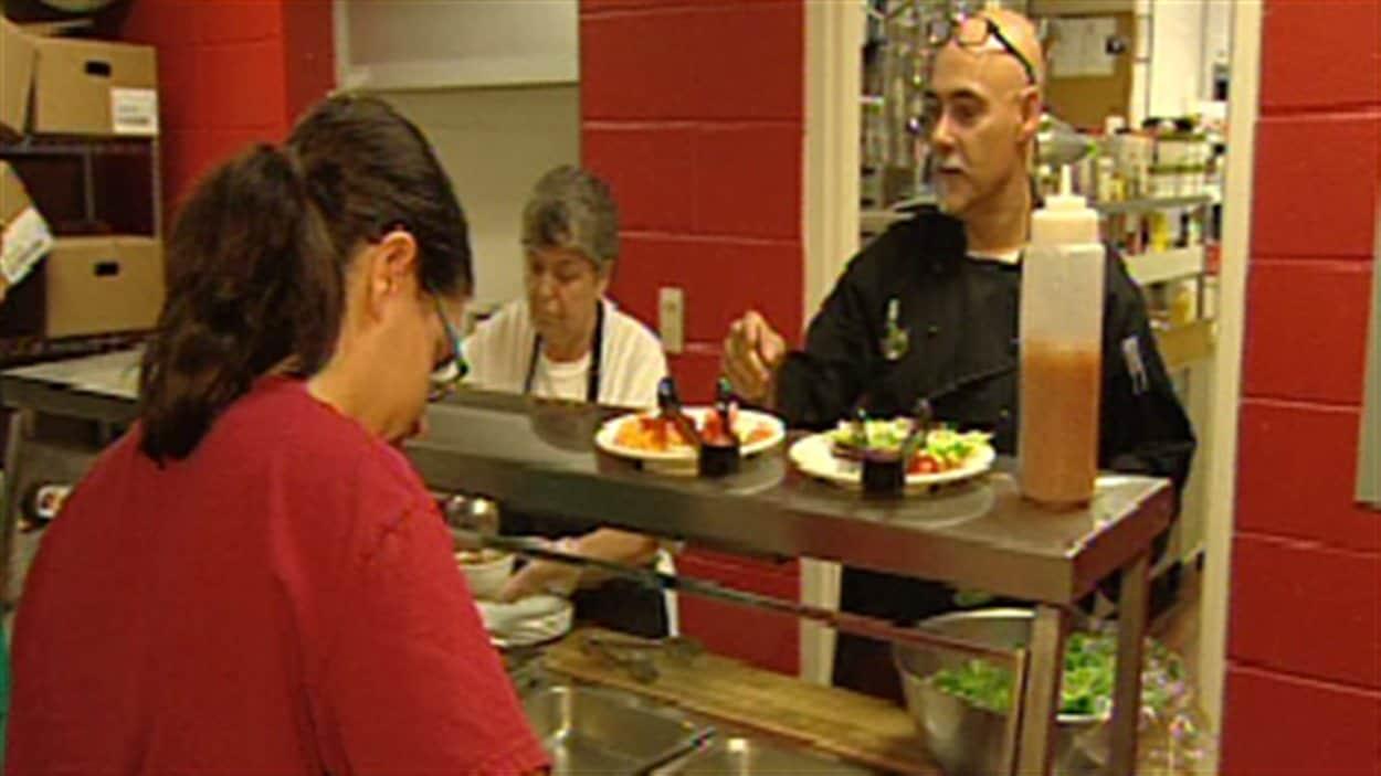 La cafétéria de l'École Saint-Anne de Fredericton