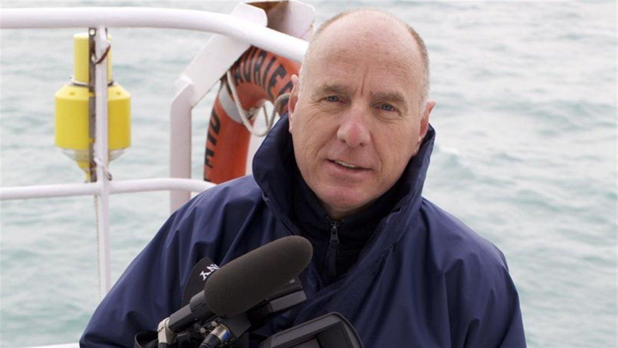 Maxence Bilodeau à bord du Laurier, pour une expédition à la recherche des bateaux de John Franklin dans l'Arctique