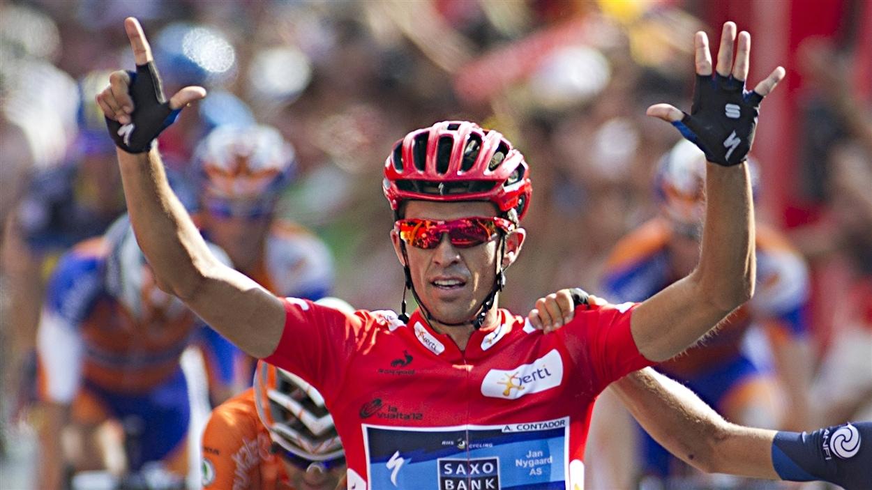 Alberto Contador à l'arrivée de la Vuelta