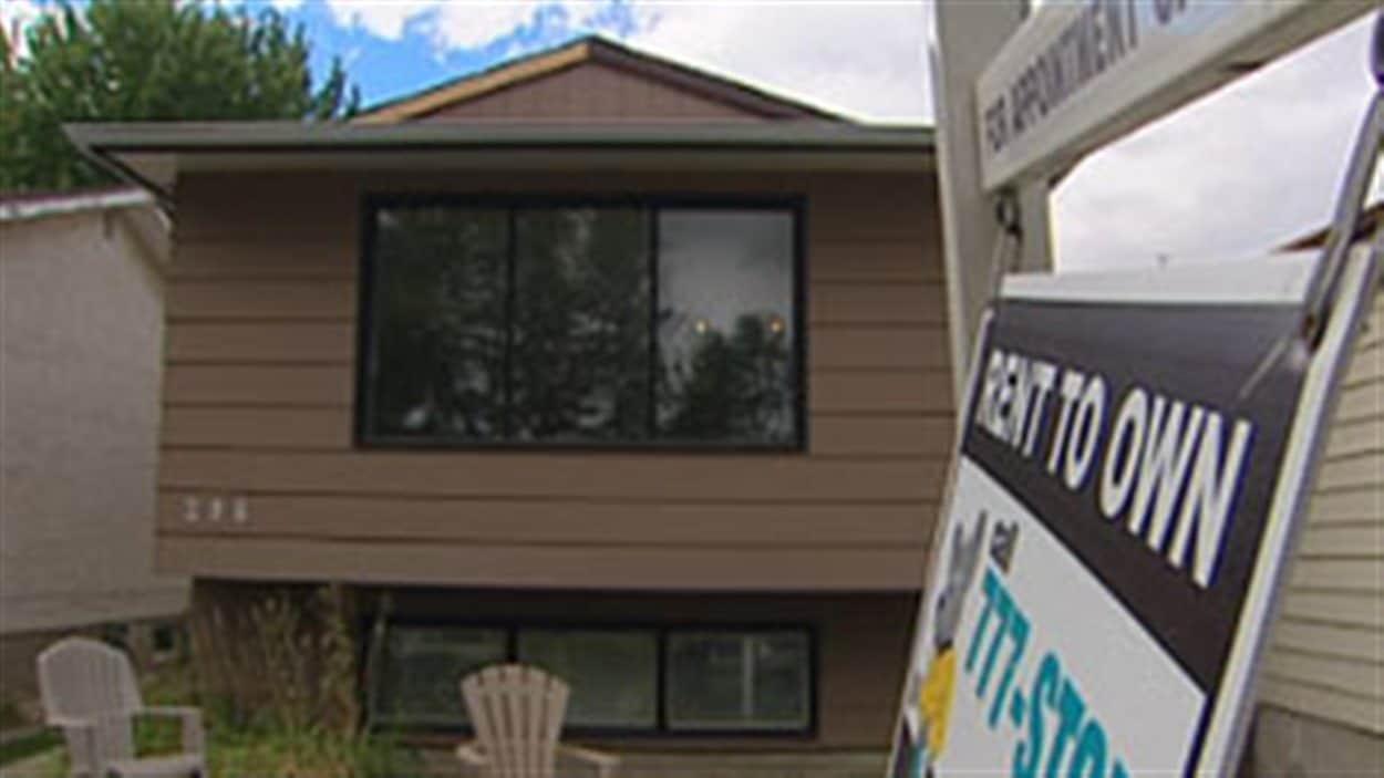 Des entrerprises de Winnipeg proposent la location de maisons avec option d'achat, moyennant un loyer plus élevé.