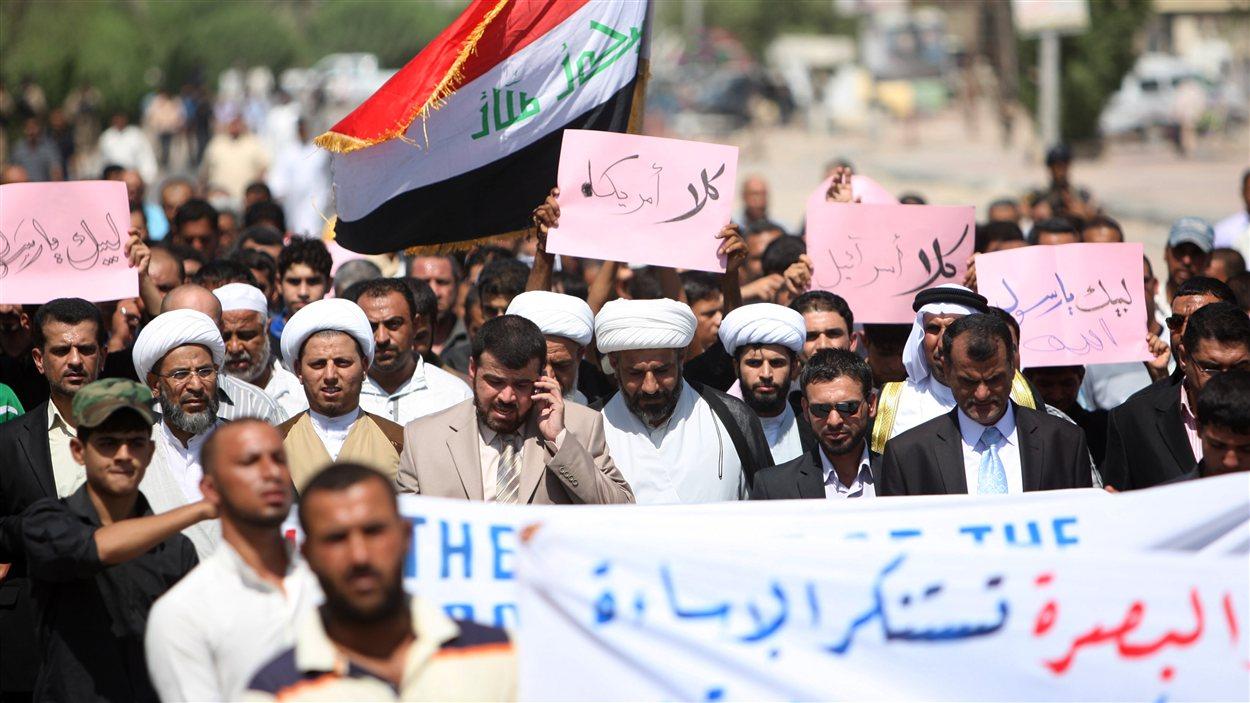 Manifestation à Bassorah, en Irak, contre le film controversé