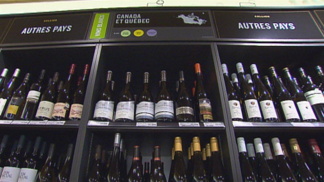 Des vignerons déplorent le peu de visibilité des produits québécois à la SAQ.