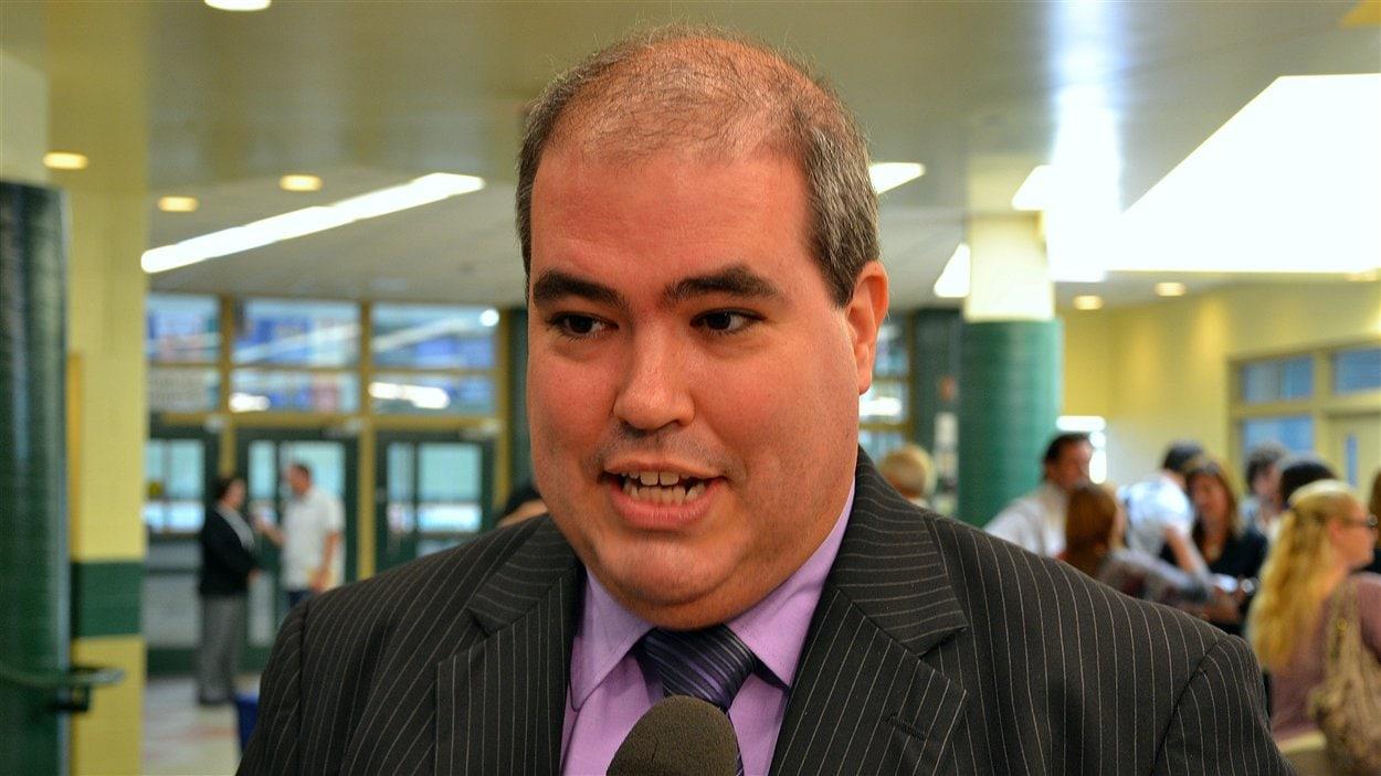 Le recteur de l'Université Laurentienne, Dominic Giroux