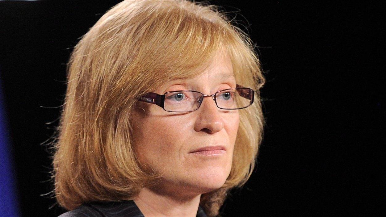 La commissaire à l'information du Canada, Suzanne Legault, lors d'une conférense de presse à Ottawa le 31 mai 2012.
