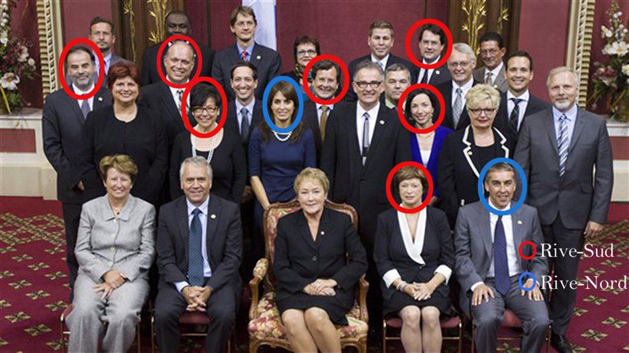 La Rive-Sud et la Rive-Nord, bien représentées au conseil des ministres.