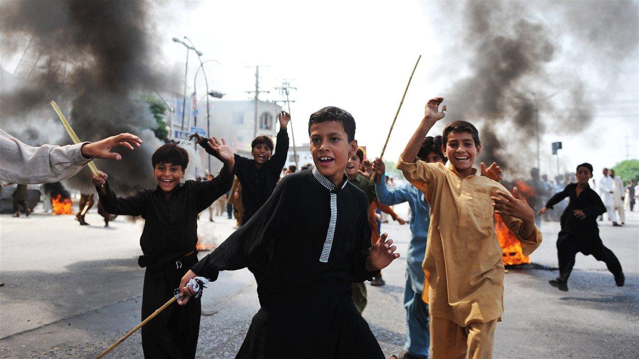 Manifestants à Rawalpindi