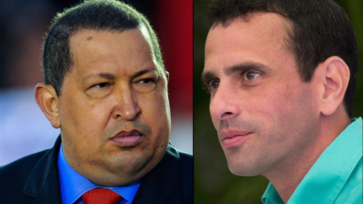 Hugo Chavez et Henrique Capriles Radonski