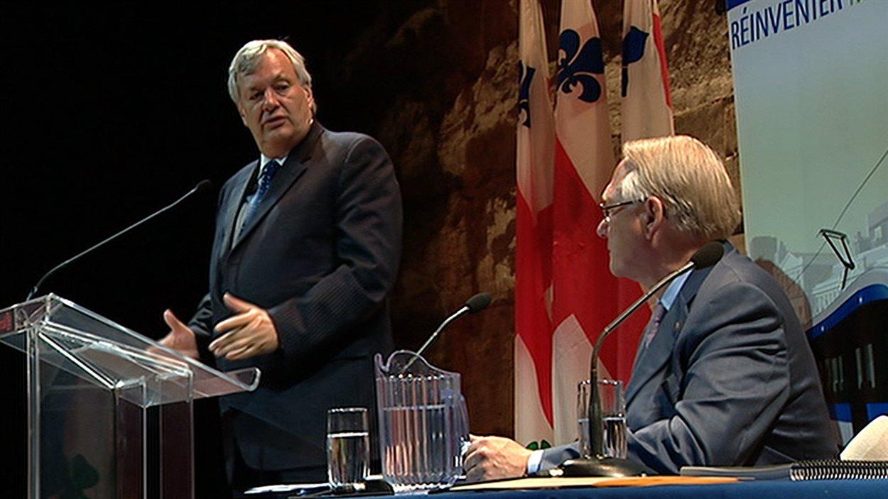 André Lavallée et Gérald Tremblay