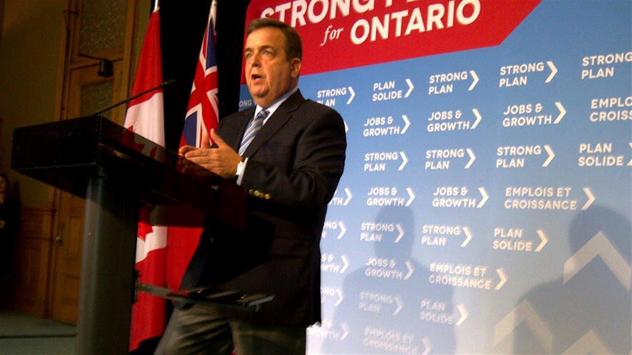 Le ministre des Finances de l'Ontario, Dwight Duncan