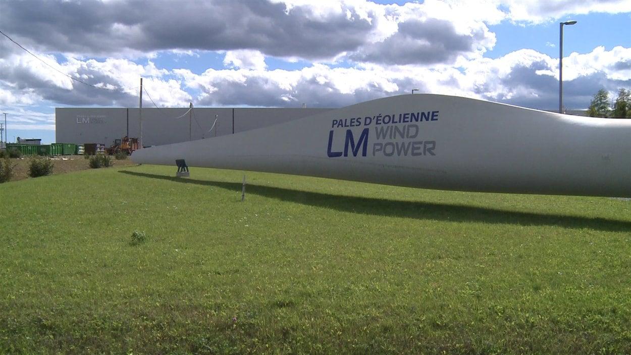 Pale d'éolienne, en Gaspésie