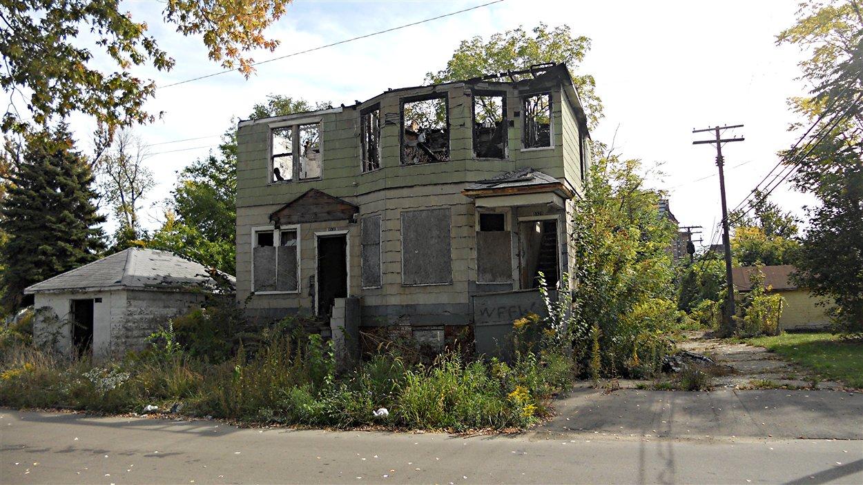Détroit, la nature envahit les rues abandonnées