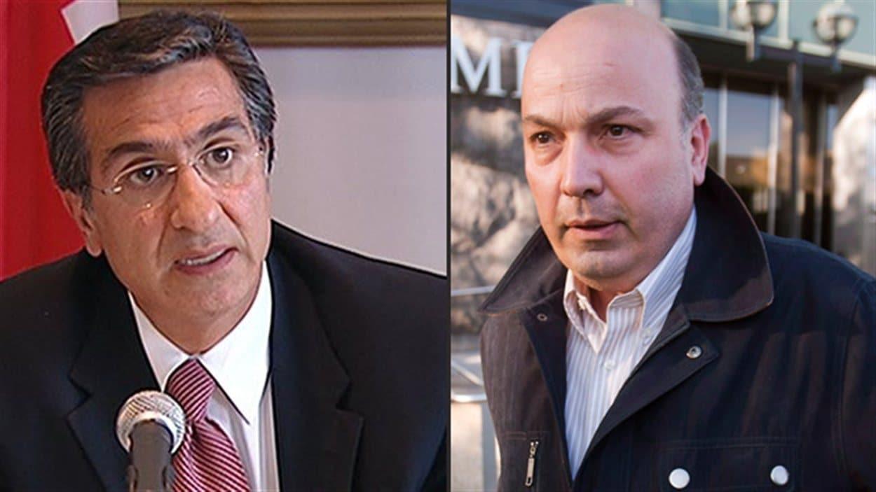 Robert Abdallah, ex-directeur général de la Ville de Montréal, et Frank Zampino, ex-président du comité exécutif de la Ville de Montréal (archives)