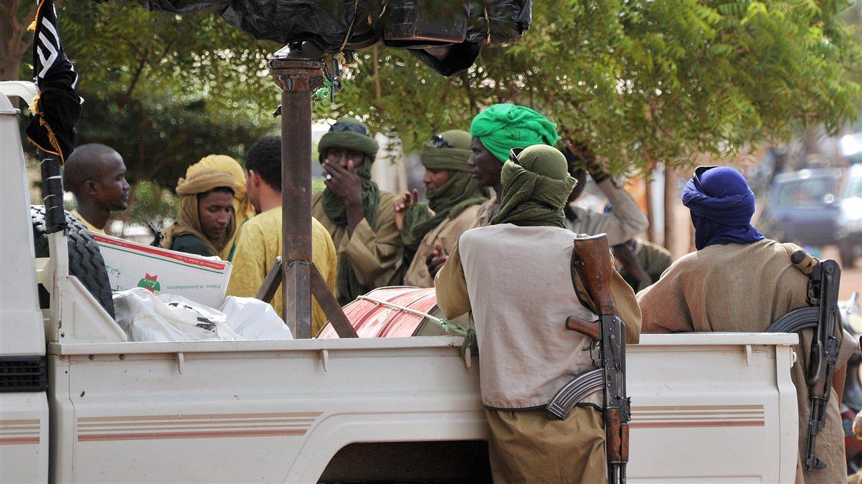 Un groupe d'islamistes armés à Gao, la plus grande ville du nord du Mali.