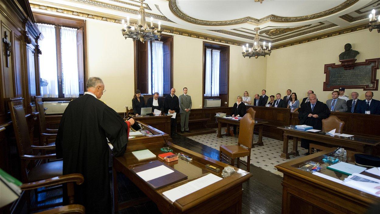 Le tribunal du Vatican où a lieu le procès de Paolo Gabriele.