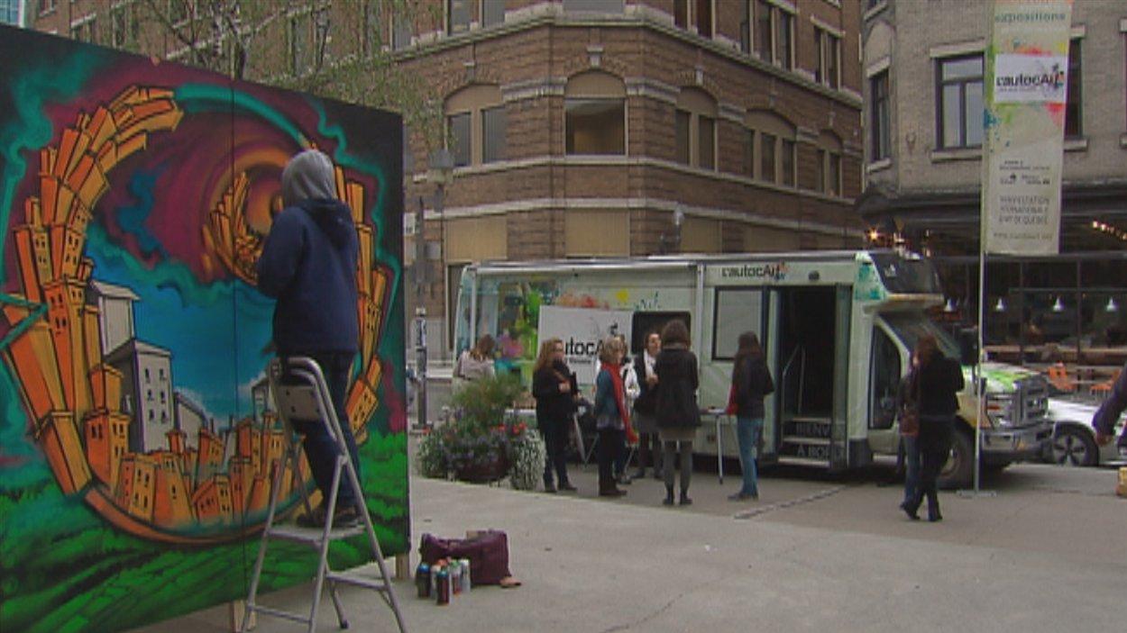 L'AutocArt des arts visuels dans le quartier Saint-Roch