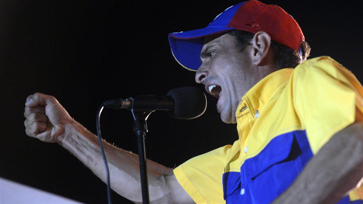Henrique Capriles a livré un discours offensif lors de son dernier rassemblement de campagne, le 4 octobre 2012 à Caracas.