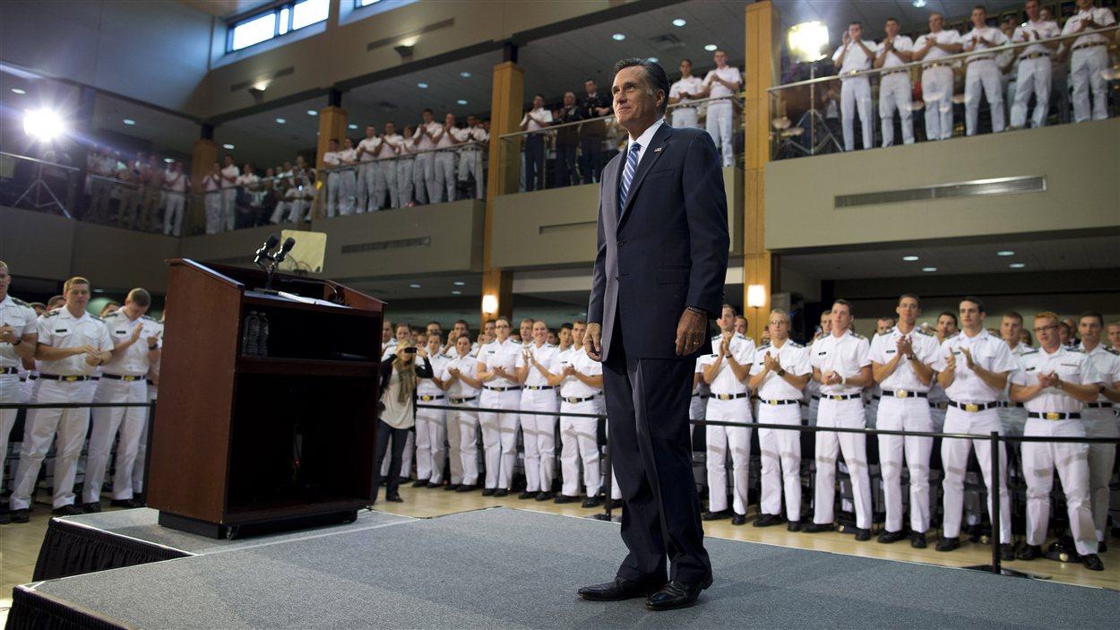 Mitt Romney à l'Institut militaire de Virginie