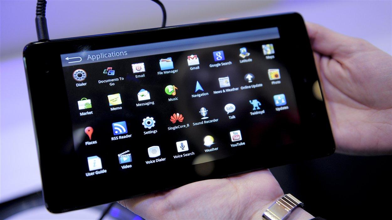 Un équipement de communication de la compagnie chinoise Huawei Technologies présenté à Barcelone en 2011.