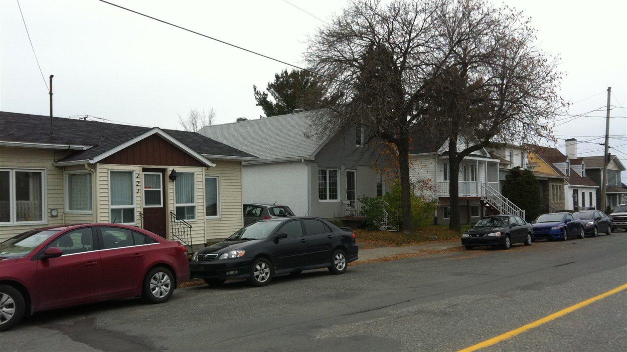 Un quartier résidentiel à Rouyn-Noranda